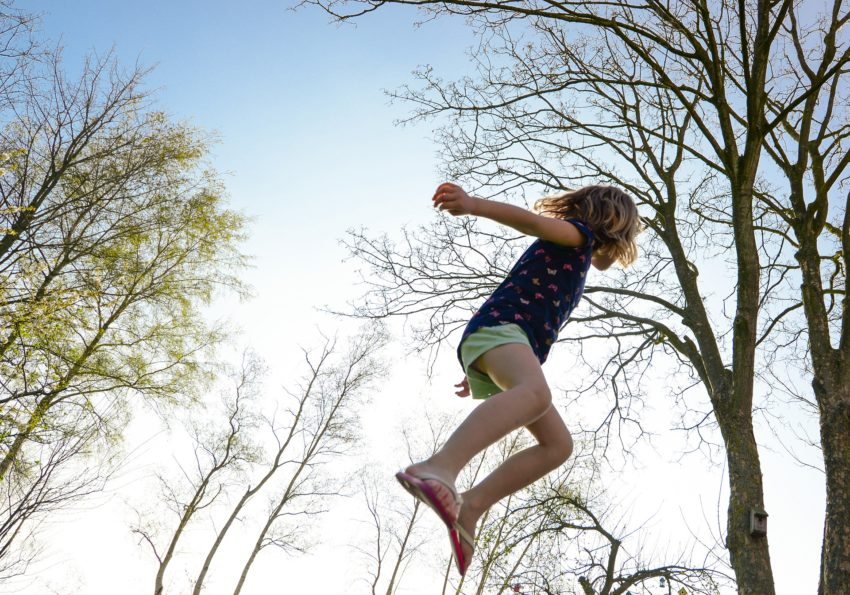CBD Oil against ADHD - Image of Jumping Girl
